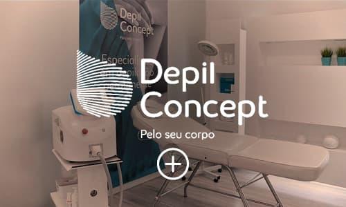 imagem e logo depil concept cliente reczero